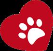 White Paw Heart